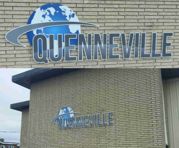 Enseigne extérieure pour Atelier d'usinage Quenneville