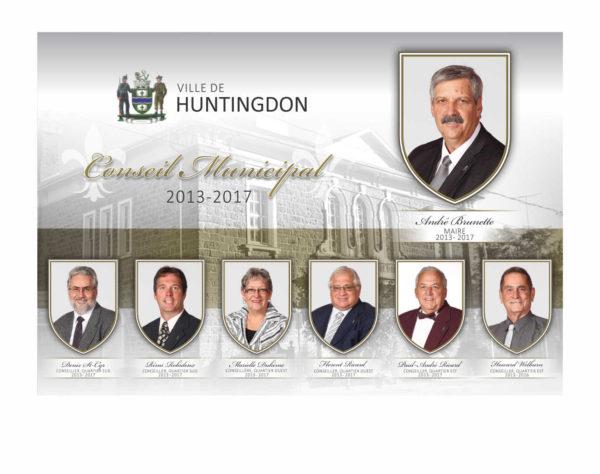 Montage photos pour le conseil municipale de Huntingdon