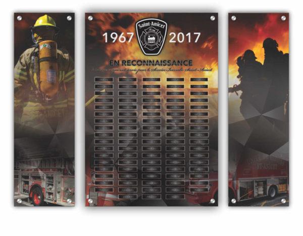 Montage graphique pour le Service Incendie St-Anicet
