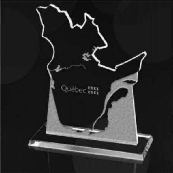 modèle courant pour la province du Québec en verre, cristal ou autre matière