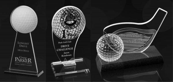 modèle courant pour le golf en verre, cristal ou autre matière