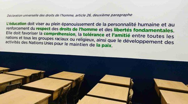 Vinyle découpé pour murale du Collège Bourget