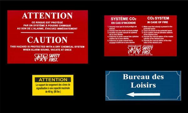 plaque d'identification électrique ou tout autre utilisation