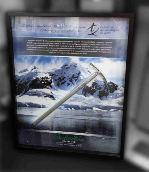 Frame of a graphic montage with insertion of an ice ax