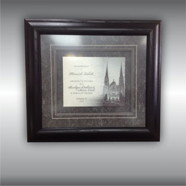 Custom Floating Frame of a Metal Print for Recognition