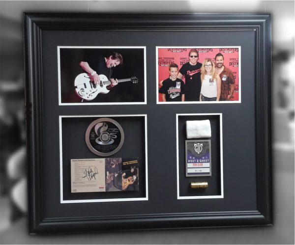 Customized framing, with photos, CDs and show memories