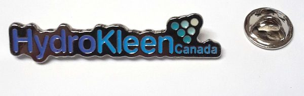 Lapel pins for employees, five colors, custom cast with silver plating