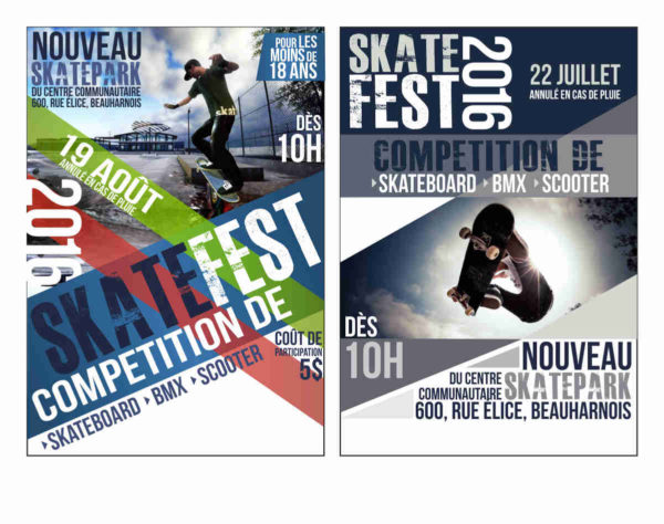Design of a poster for the SKATEFEST Youth House