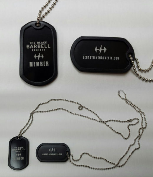 Military style identification plate with laser engraving