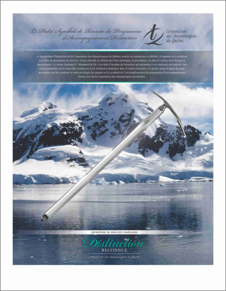 Graphic editing with insertion of an ice ax for custom framing