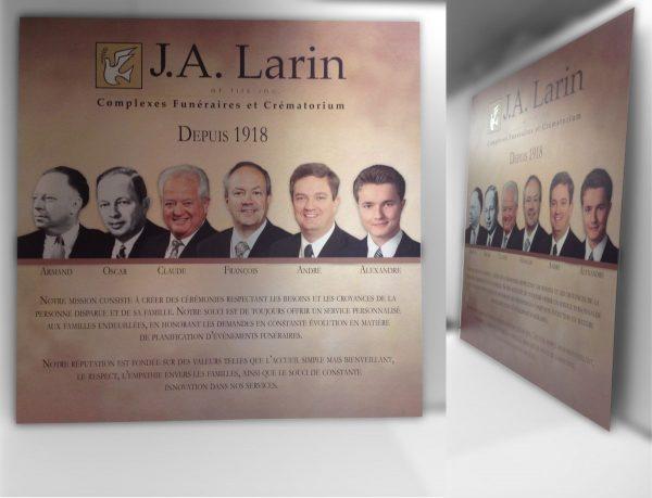 Impression sur Métal pour J.A. Larin