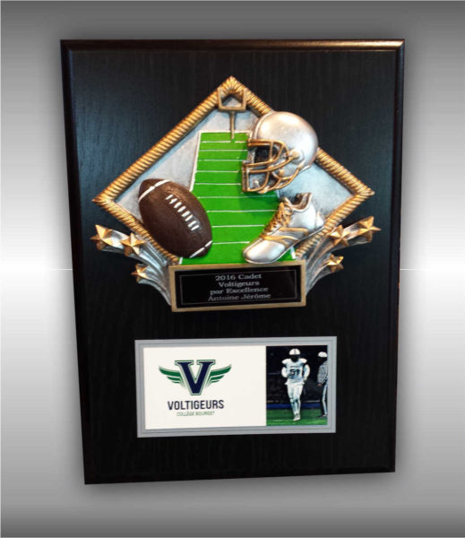 Honorary plaque with engraving and sublimation